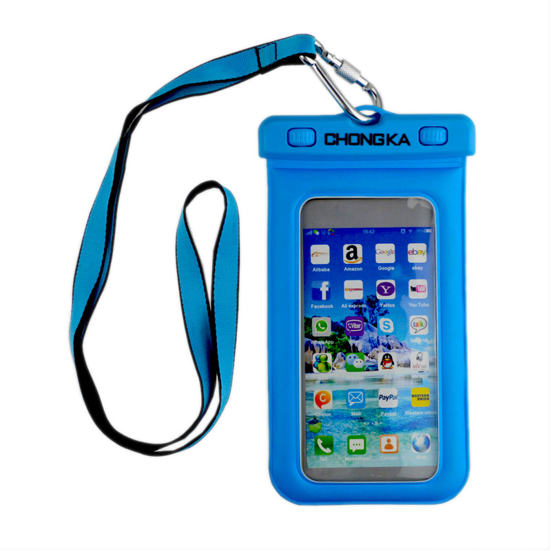 wholesale Promotion Transparent Waterproof mobile Phone Case/Bag,PVC cell Phone Waterproof Dry Bag