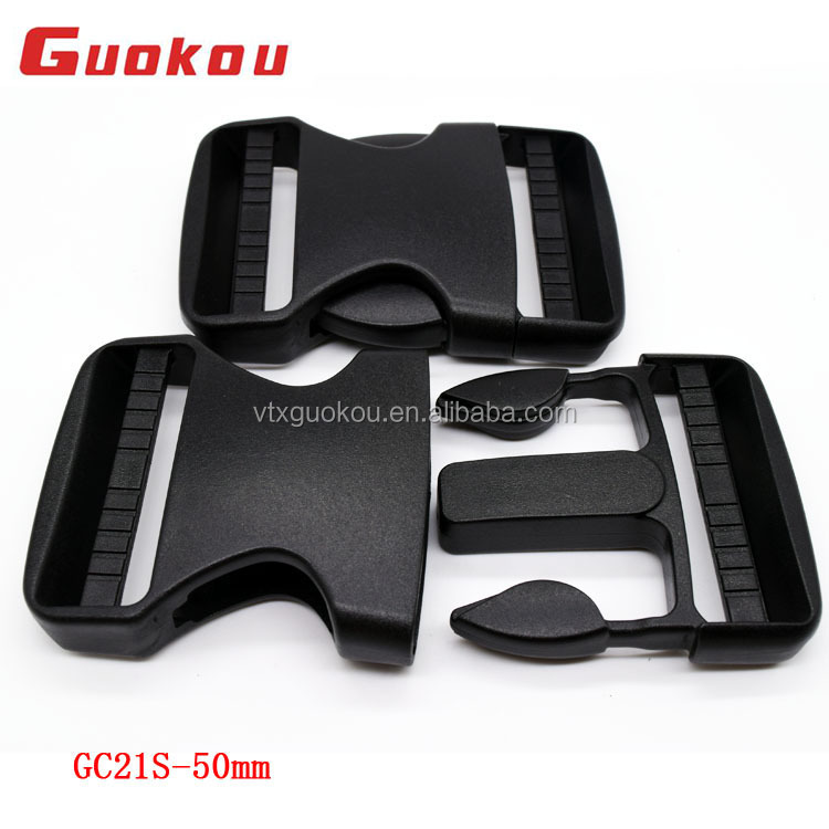 50mm plastic side quick release buckle for backpacks