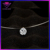 Invisible Fishing Line Necklace Brilliant White 6mm 8mm Cubic Zirconia Pendant Necklace
