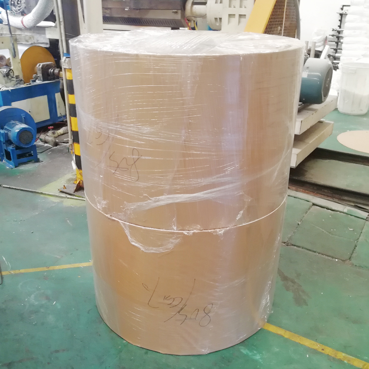 Top Quality  190+18+15GSM Double PE Coated Paper Offset Printing cardboard Paper roll paper mill for sale