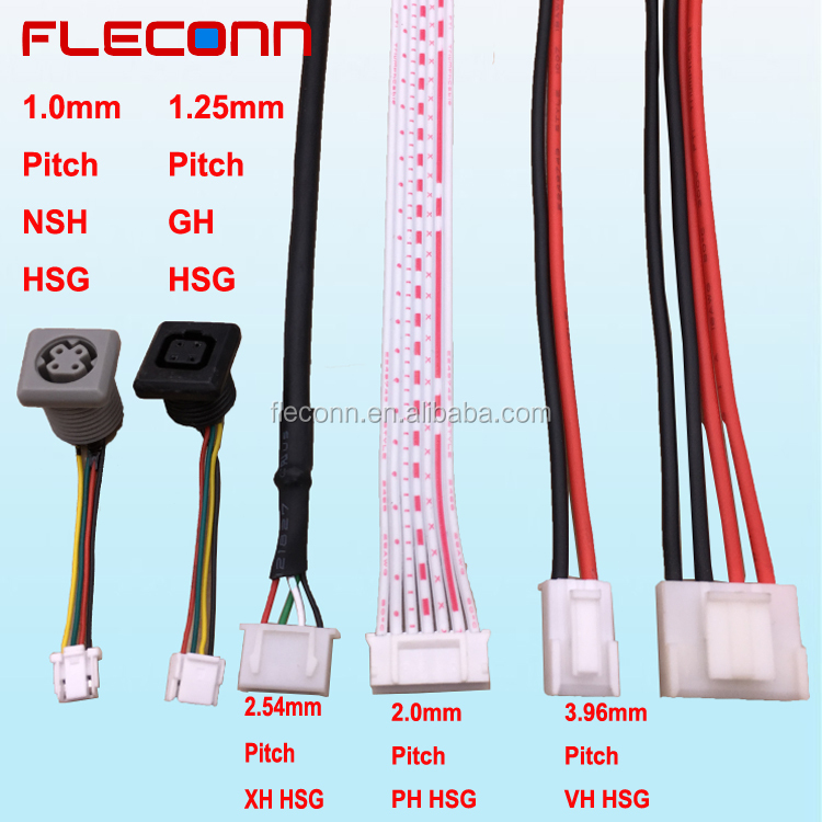 JST Pitch 1.0mm NSH 1.25mm GH 2.0mm PH 2.54mm XH 3.96mm VH JST Connector Wire Harness