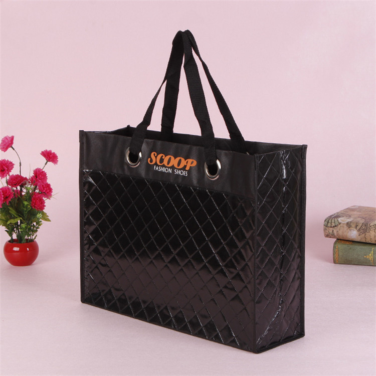 Factory price Laser coated shopping bags fabric eco friendly laminated pp non woven bag
