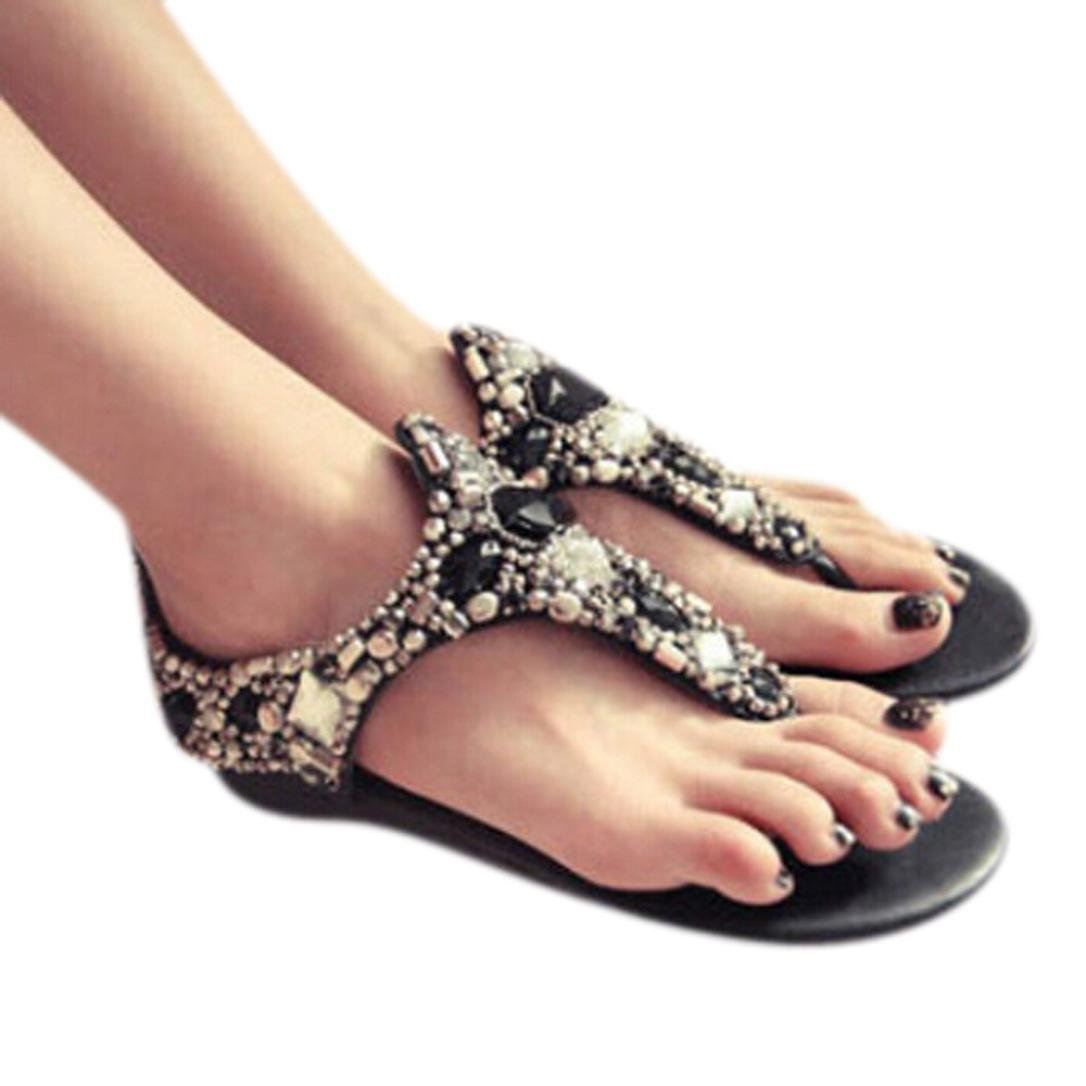 Hunputa Diamond Slope With Shoes Beaded Sandals National Wind
