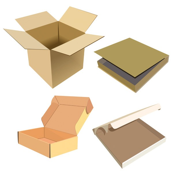 custom logo printed stronger Corrugated packaging handle box moving carton