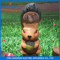 Cixi Landsign XLTD-P5010 animal solar garden light solar squirrel resin light