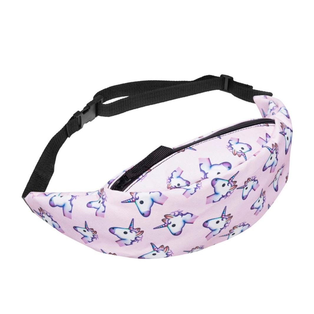 Casual Fanny Pack, Jhuivd Fashion Sports Hiking Running Belt Waist Bag Pink,Fashion Belt Waist Bag,Pink Fanny Pack