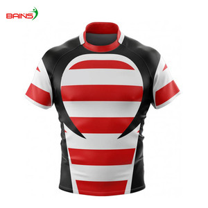 Top quality stretch polyester rugby training jersey mens
