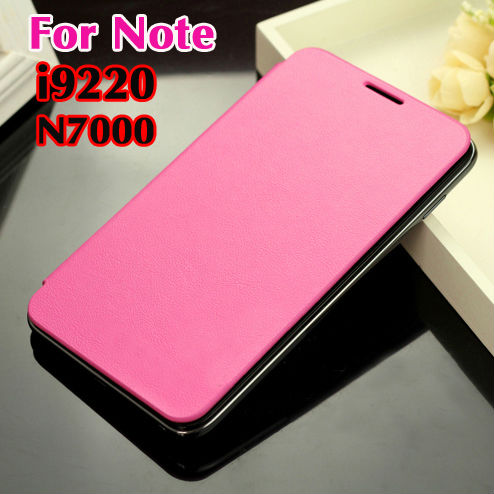 cheaper 5eec8 016af For Samsung Galaxy Note 1 N7000 7000 I9220 9220 Original Flip Leather Back  Cover Cases Battery Housing Case Protector Holster