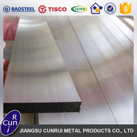 Cold Drawn Hairline Finish 303 304 316L 410 201 Stainless Steel Flat Bar