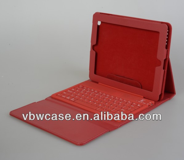 9.7 tablet pc ledertasche bluetooth tastatur, ledertasche der bluetooth tastatur für neues ipad