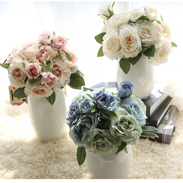 Buy cheap china bulk flower wholesale products find china bulk silk roses bulk artificial flowers wholesale fake flowers wedding supplier artificial peony rose bouquet artificial flower mightylinksfo