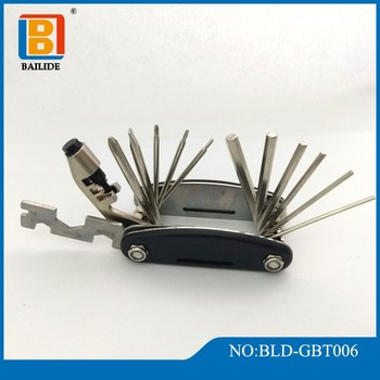Bicycle Repair Tool, Multitool with 16 Quality Stainless Steel Folding Functions Tool Kit