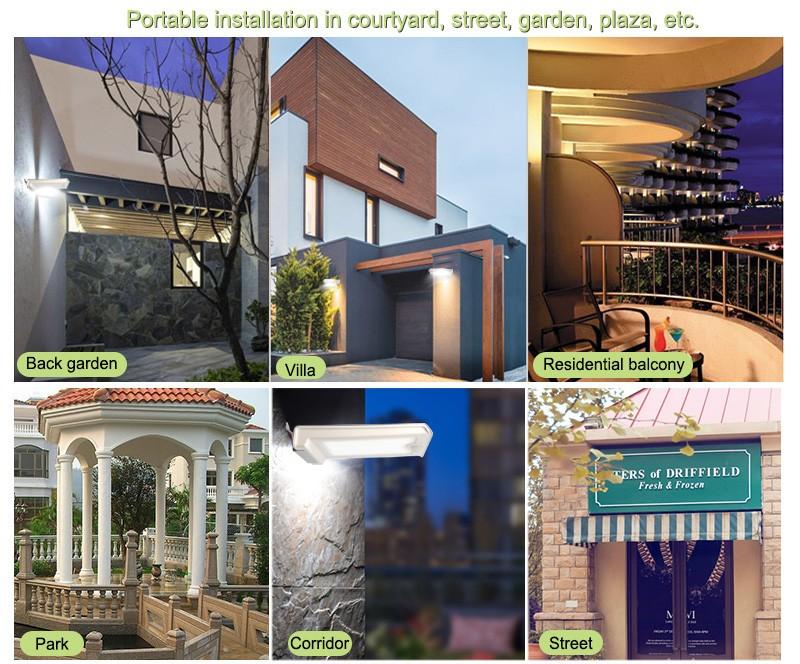 Solar Outdoor Panel Light Ip65 Waterproof Garden Courtyard Street ...