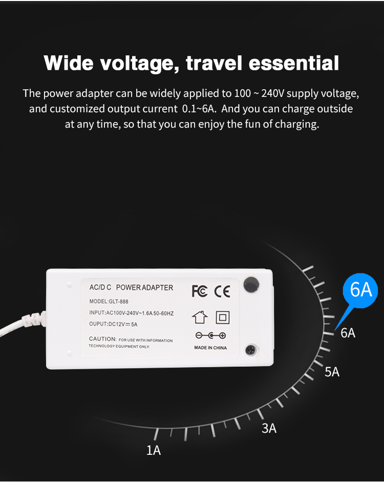 Industrial grade Efficiency VI power adaptor Class 6 Supply With CE FCC SAA KC PSE Certification 36W 12V 3A 5a AC DC Adapter
