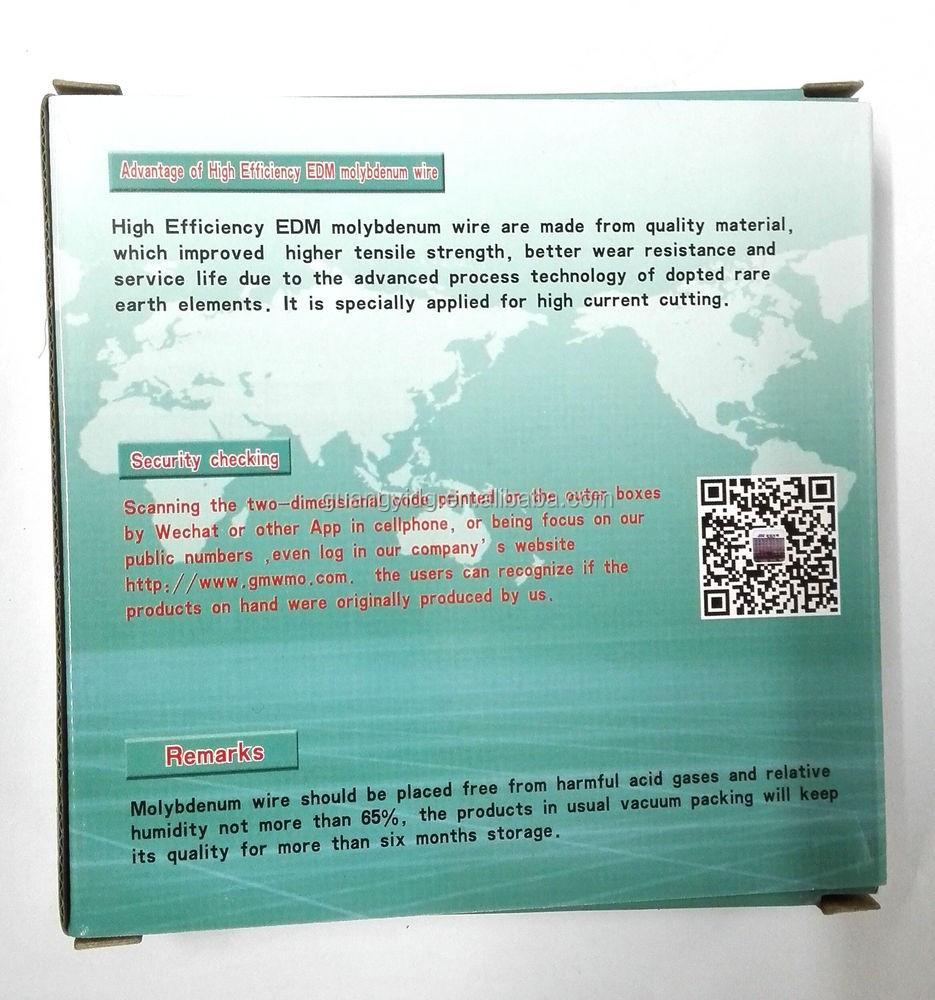 High Efficiency Edm Molybdenum Wire For Cnc Wire Cut Edm Machine ...