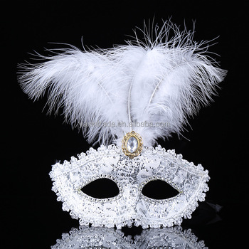 25fa0a47bcc5 Factory Price Masquerade Mask Feather Christmas New Year Party Facial Masks  For Female