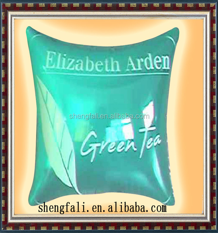 PVC Special Design Inflatable Terry Cover Spa Bath Pillow / beach bag