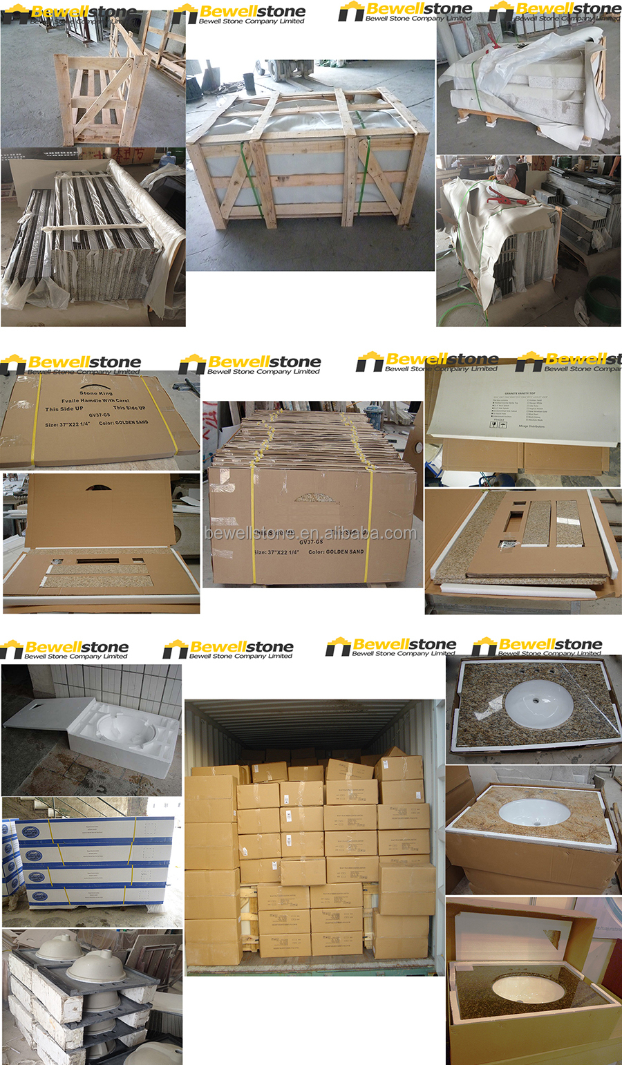 Wholesale China G603 Light Grey Granite Prefab Granite Countertop ...