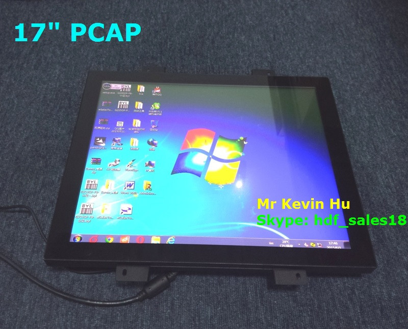 "low cost 17"" pcap touch screen monitor for 2 players / 6 players / 8 players multi-player electronic automated roulette"