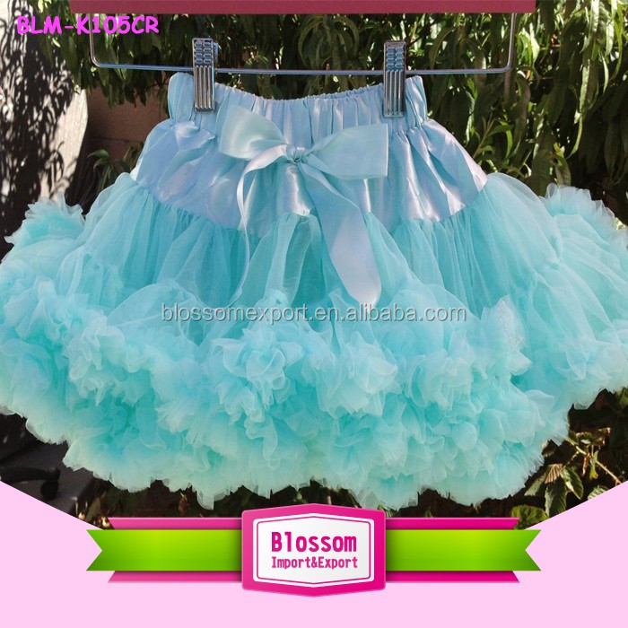 Girl Party Petti Skirt Chiffon And Cotton Fluffy And Tutu Skirt With Ribbon Summer Skirt