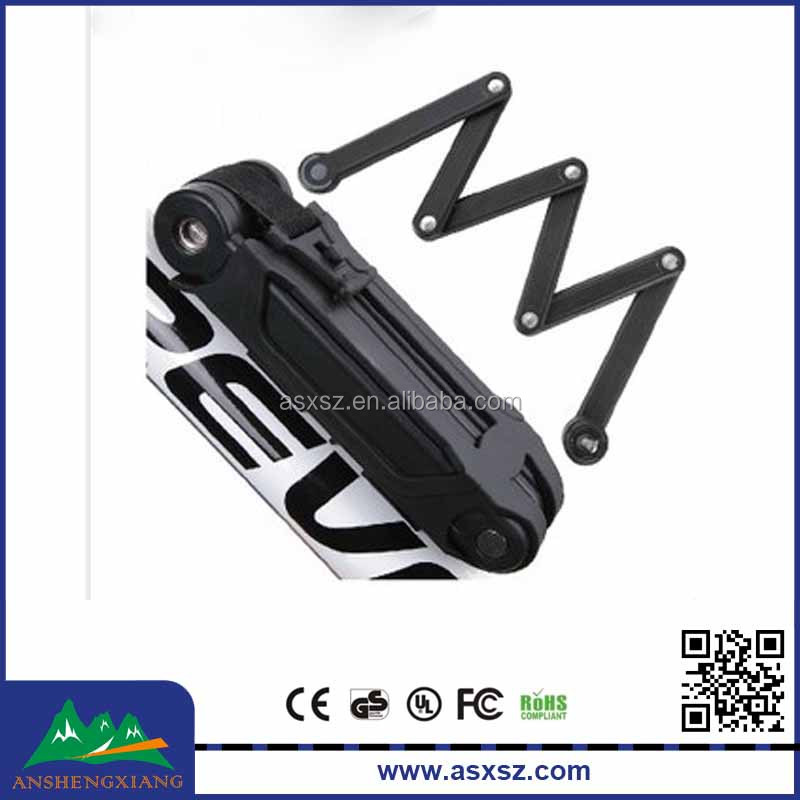 Bike accessory High quoality safety bike lock folding wheel Steel Cycling Bicycle Foldable Lock