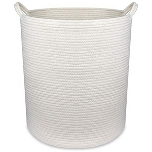 "18"" x 16"" Extra Large Storage Baskets Cotton Rope Woven Nursery Bins,off white (XL)"