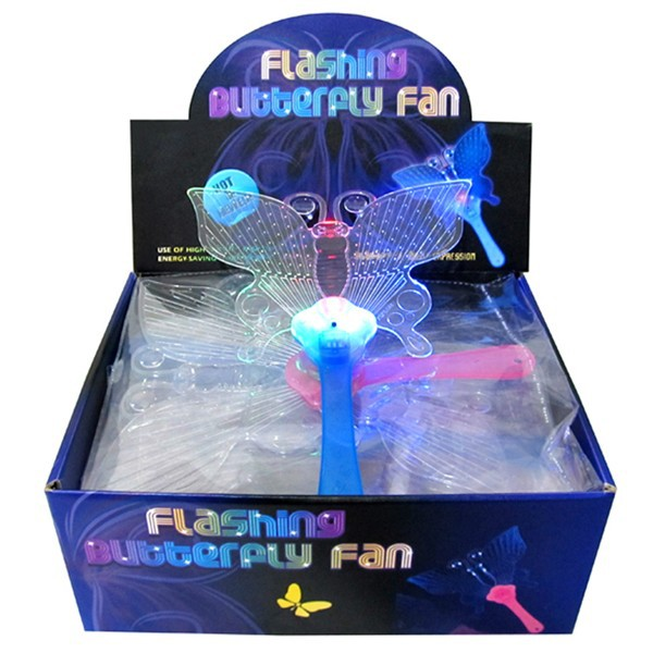 Hot selling led flashing butterfly hand fan
