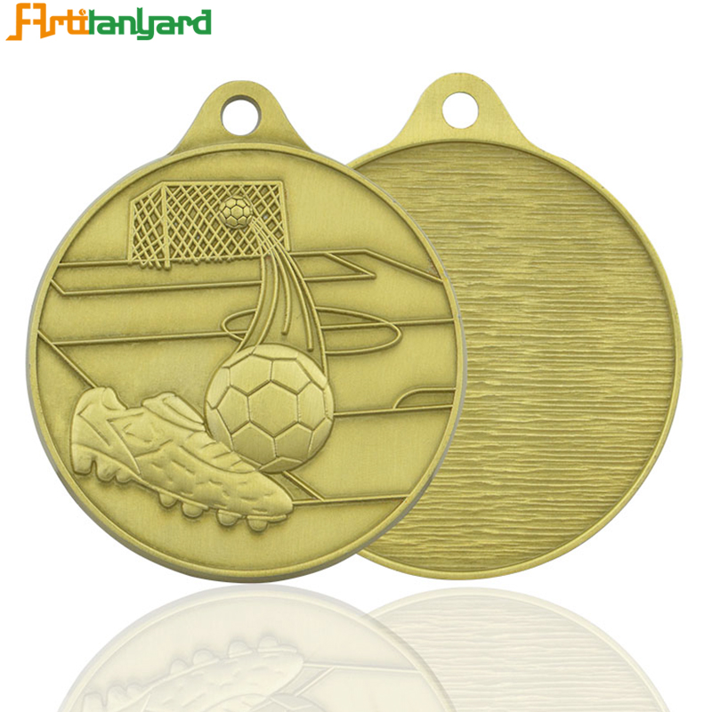 Best Selling Cheap Sports Antique Brass Metal Medals With Ribbon