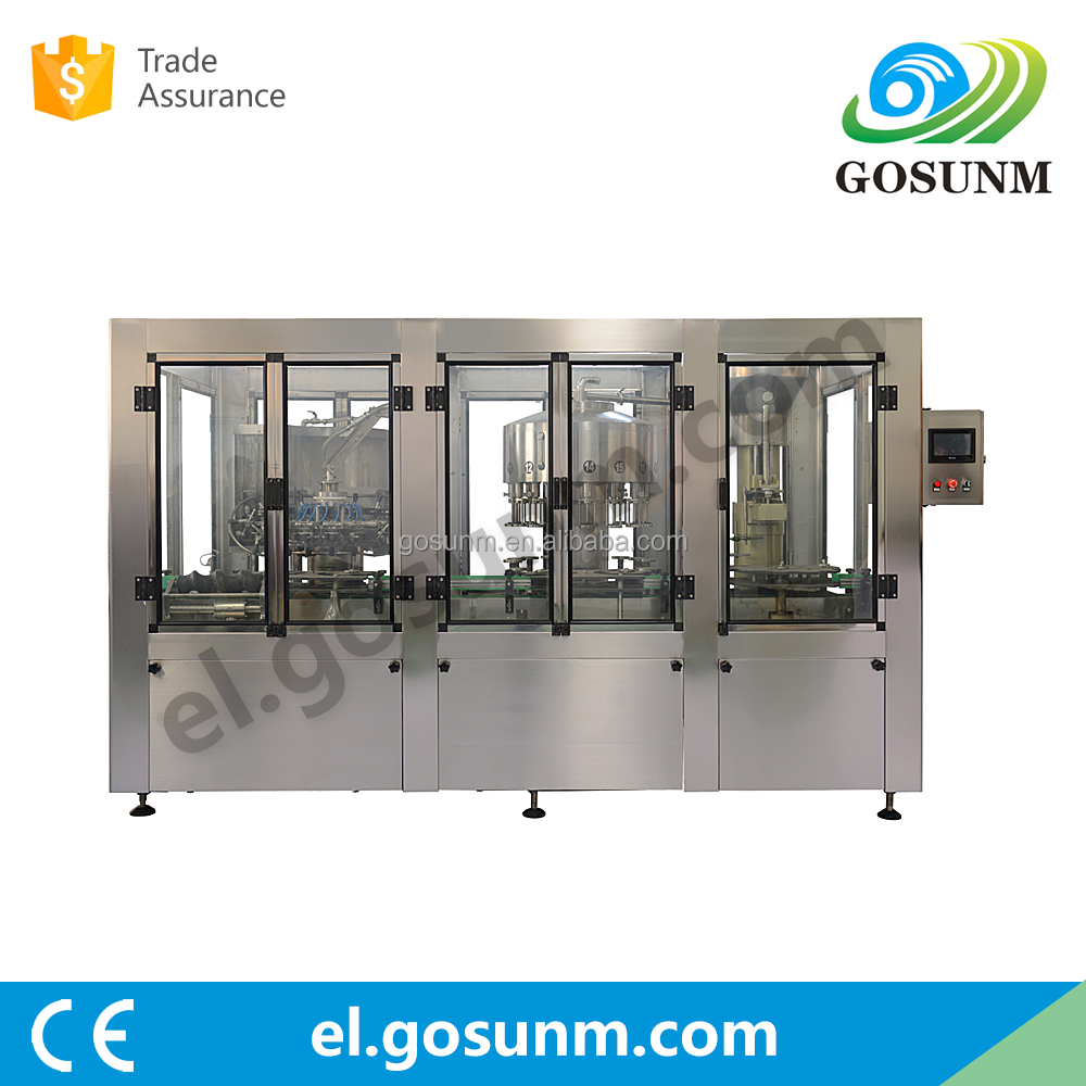 automatic milk,PET glass bottle filling machine with rinsing, filling, capping function