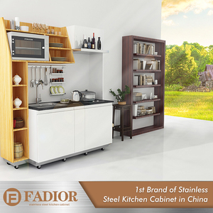 Customized portable modular kitchen accessories cabinet for apartment