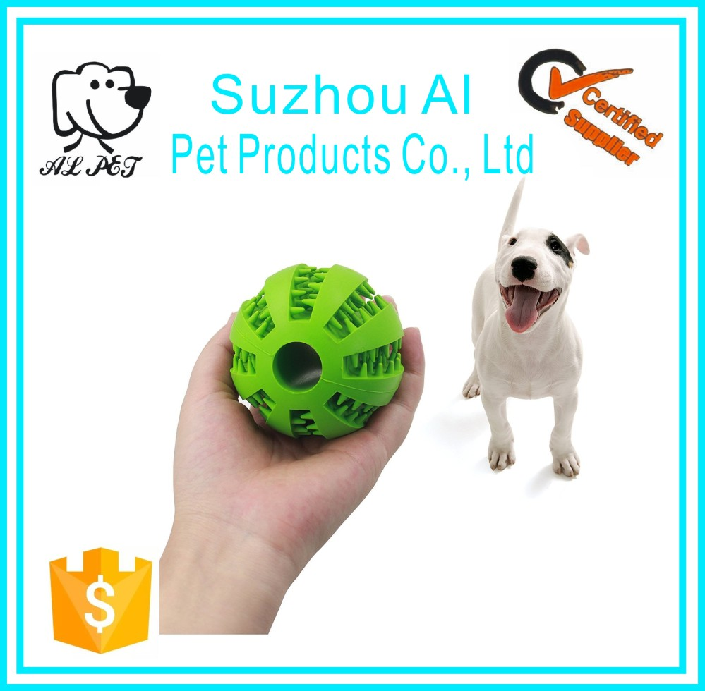 BPA FREE High Quality Durable Non-toxic Natural Rubber IQ Playing Funny Dog Toy Ball