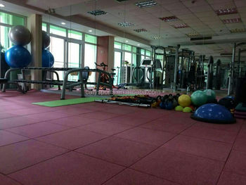 High quality gym fitness centre epdm rubber flooring tiles mats