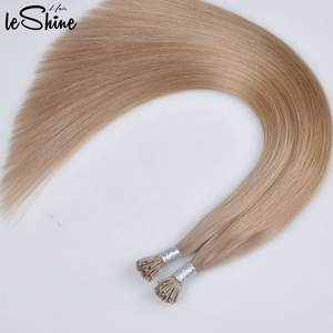 Top Quality Wholesale Remy Keratin I/U/V/Flat Tip Russian Blonde Keratin Hair Extension
