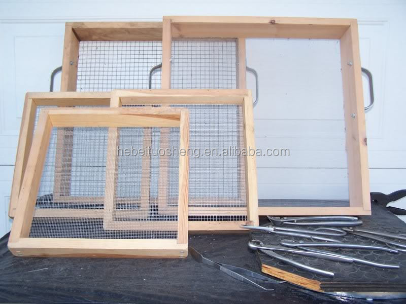 Wooden Hand Held Soil Sieves Soil Test Sieves Garden Soil