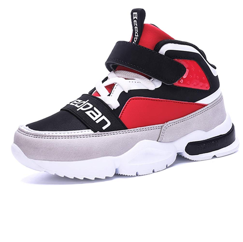 14de49b1 Get Quotations · LGXH Young Boys Girls Slip On Basketball Shoes Outdoor  Lightweight Big Kid High Top Athletic Sneakers