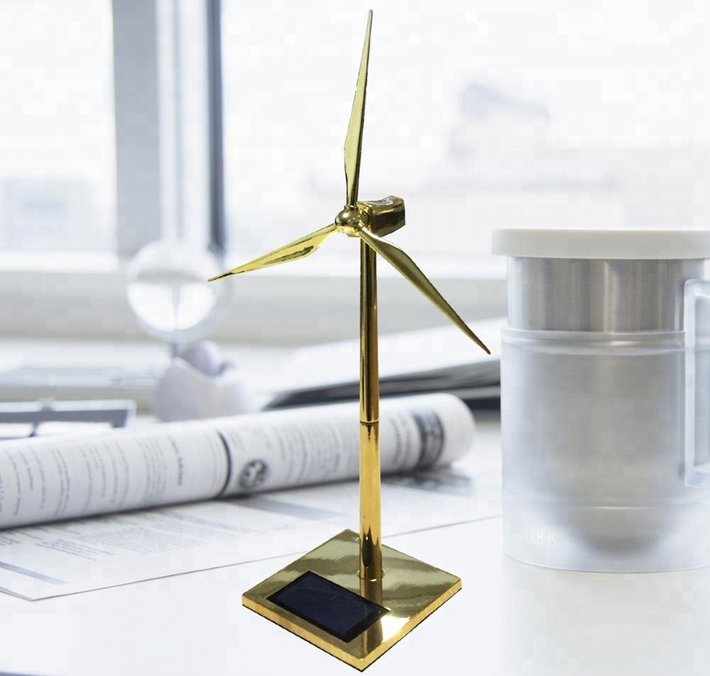 Windmill working model educational toys solar windmill gift