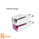 Ranphys Universal 5V 2.4A Dual USB Travel Charger Adapter Wall Portable US Plug Mobile Phone Smart Charger