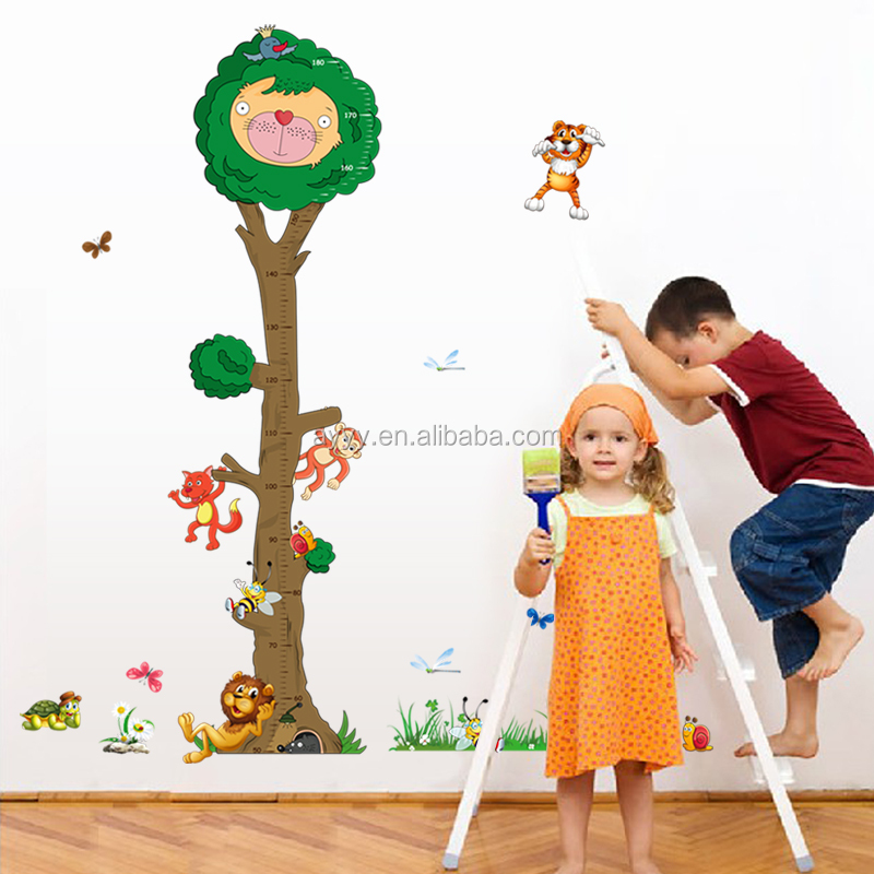 MJ8022 The cartoon tree children's height DIY decorative wall stickers