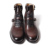 VIKEDUO Hand Made Black Calfskin Lacing Jodhpur Boots Mens Leather Dress Shoes And Boots For Fashion Week