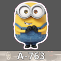 A 763 Despicable Me Minions Waterproof Cool DIY Stickers For Laptop Luggage Fridge Skateboard Car Graffiti