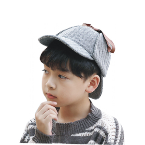 wholesale factory price sport children Sherlock Holmes hats cute with double ears double visors caps