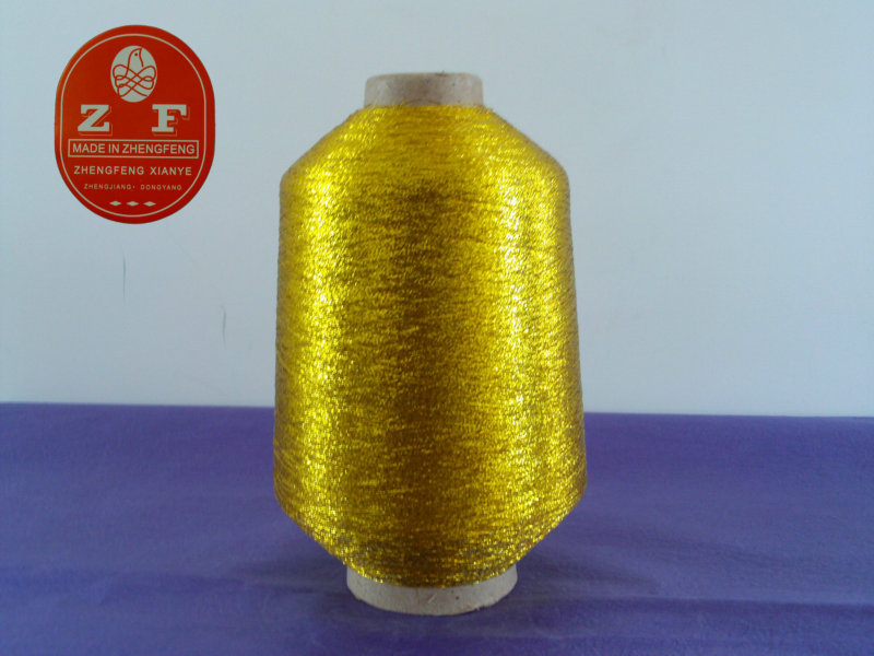 High quality shinny golden silver MX type metallic bobbin yarn