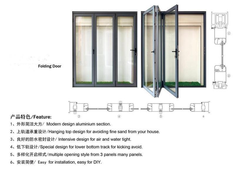 2017 Fashion Design Aluminum Glass Folding Doors,Factory Supply ...