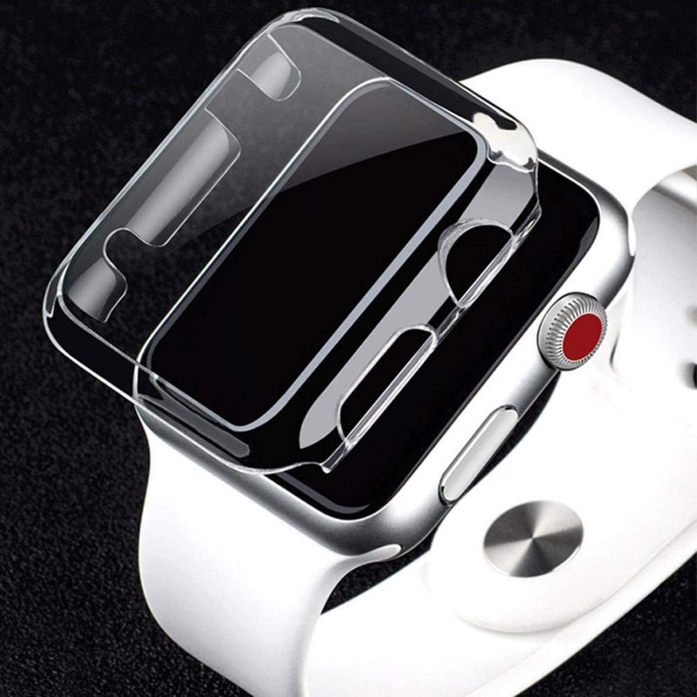 Gotd Ultra-Slim Electroplate PC Hard Case Cover For Apple Watch Series 2 38mm / 42mm (Clear Series 2 42mm)