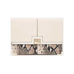 Neutral Snake Portfolio Clutch branded leather wallet