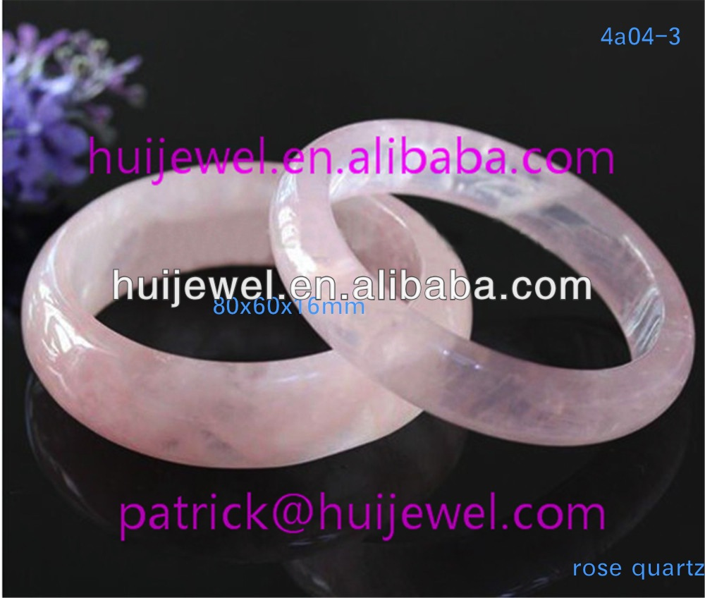 natural rose quartz bangle