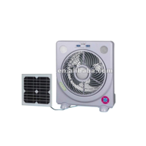 10inch multifunction emergency solar rechargeable table fan with led light  radio solar panel and radio