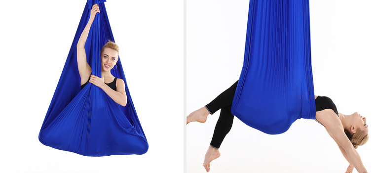 Aerial Silk Fabric Yoga Swing Hammock for Antigravity Yoga Inversion Include Daisy Chain,Carabiner and Pose Guide