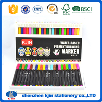 wholesale profession beautiful 24 colors watercolor brush marker pen for art
