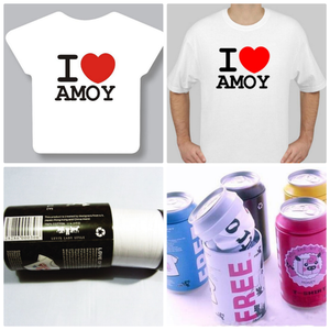OEM cheap activity Promotional Tin Can cotton blend customized Compress t-shirt